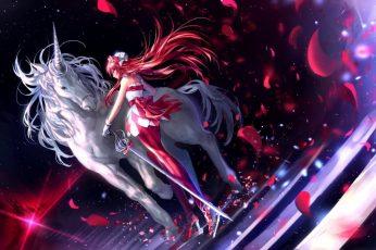 Anime girls, unicorn wallpaper, Pretty Rhythm: Rainbow Live, Renjouji Bell