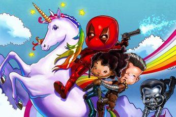 Deadpool wallpaper, Deadpool 2, Wade Wilson, colossus, Cable, fan art
