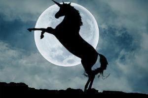 Nature, silhouette, outdoors, sky, unicorn wallpaper, moon, cloud – sky