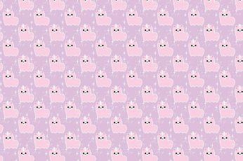 Pink cat print illustration, background, texture, art, unicorn wallpaper
