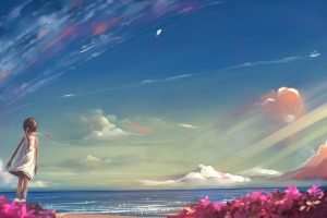 Digital art, artwork, illustration, landscape, sky