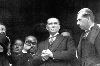 Mustafa Kemal Atatürk, vintage, historic, monochrome, group of people wallpaper