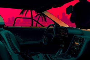 Black vehicle interior, Drive (movie), vintage, car, mode of transportation wallpaper
