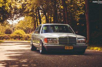 Gray Mercedes-Benz sedan, stance, w126, mode of transportation wallpaper