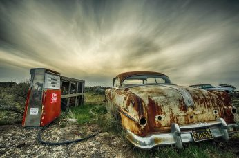 Vintage brown vehicle, wreck, car, HDR, abandoned, mode of transportation wallpaper