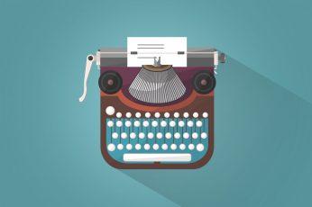 Vintage Typewriter – Illustration, antique wallpaper, author, business