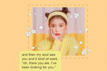 Korean Aesthetic Yellow text wallpaper