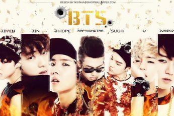 BTS poster wallpaper, K-pop, V bts, Rap Monster, Suga, Jungkook, J – Hope