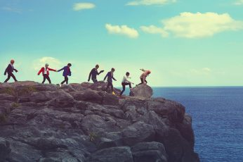 Brown stone hill wallpaper, Music, BTS, sky, sea, water, group of people