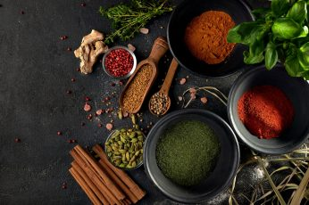 Food wallpaper, spices, still life, colorful
