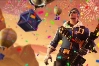 Fortnite wallpaper, Royale Bomber, PC gaming, colorful
