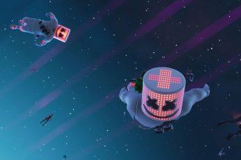 Fortnite wallpaper, Video Game, Marshmello (Music)