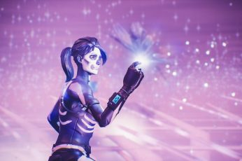 Fortnite wallpaper, event, PC gaming, skull, video games