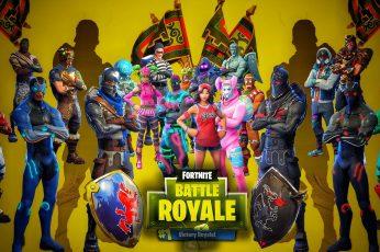 Fortnite Battle Royale digital wallpaper, games art, graphic design
