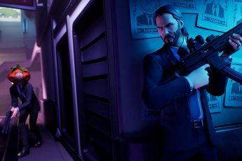 Fortnite wallpaper, Video Game, Fortnite Battle Royale, John Wick