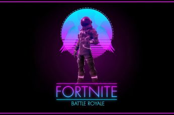 Fortnite wallpaper, Music, Background, Art, Synth, Retrowave, Battle Royale
