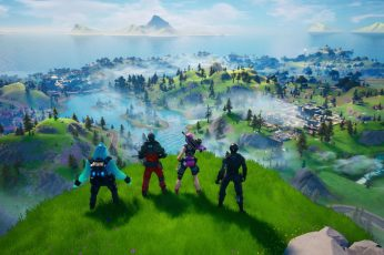 Fortnite wallpaper, Xbox One, Epic Games