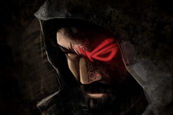 Man wearing hood wallpaper, Republic of Gamers, ASUS, fantasy art