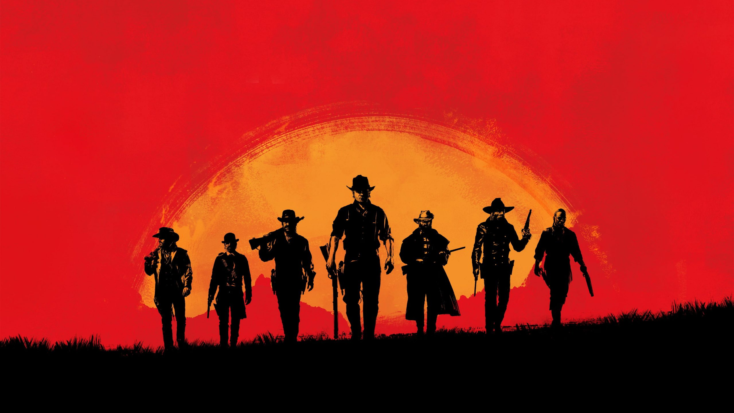 Game Wallpaper Yellow Red And Black Group Of Men Digital Wallpaper Red Dead Redemption Wallpaper For You The Best Wallpaper For Desktop Mobile