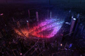 ASUS ROG, Republic of Gamers, City lights, 4K
