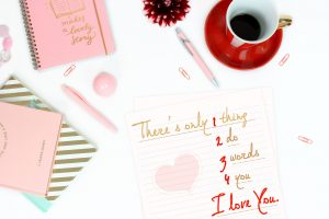 I Love You, edited, coffee, table, pink, diary, girly, cute, paper