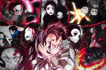 Kimetsu no Yaiba wallpaper, anime, Tanjiro Kamado, Kamado Tanjirō, Kamado Nezuko