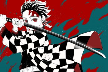Kimetsu no Yaiba wallpaper, anime, Kamado Tanjirō