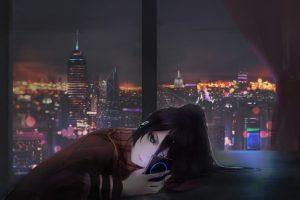 Wallpaper female anime character illustration, Aoi Ogata, artwork, anime girls