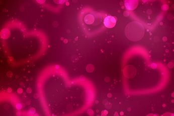 Wallpaper Valentine's Day red heart, pink hearts illustration