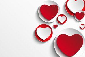 Hearts Romantic, design, valentines, Love, Wallpaper