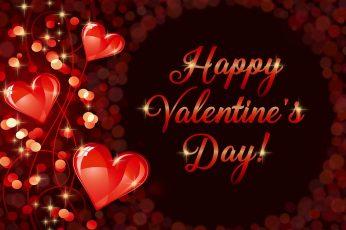 Happy Valentine's Day, romantic, love, hearts wallpaper