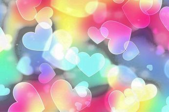 Heart, love, colorful, romantic, valentine day wallpaper