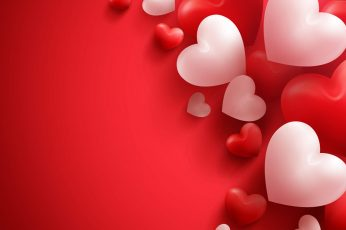 4k, heart, Valentines Day, love image, no people, red, balloon wallpaper