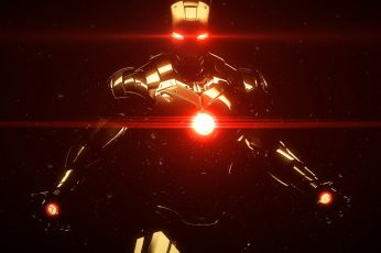 Iron Man wallpaper, Marvel Comics, superhero, Tony Stark, illuminated