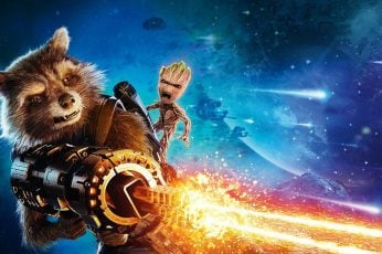 Guardians of The Galaxy Rocket and Groot digital wallpaper, Guardians of the Galaxy Vol. 2