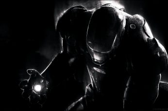 Iron Man wallpaper, Marvel Comics, movies, gas mask, indoors