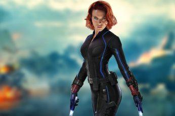 Marvel Black Widow wallpaper, Scarlett Johansson, redhead, women, The Avengers
