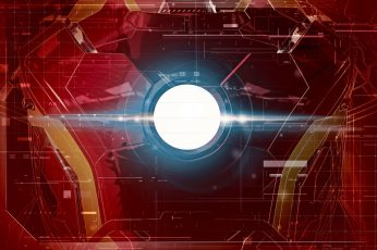 Marvel Iron Man chest plate illustration wallpaper, red and blue Iron-man graphics art