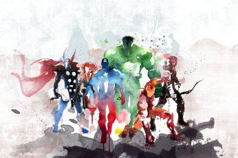 Marvel Avengers painting wallpaper, The Avengers, Iron Man, Captain America
