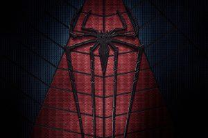 Spider-Man wallpaper, Marvel Comics, superhero, logo, dark, red