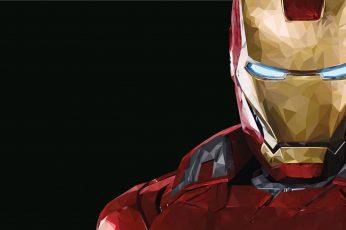 Iron Man Mark 43 wallpaper, Marvel Comics, copy space, black background