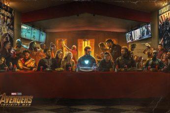 Marvel Avengers Infinity War poster wallpaper, Avengers Last Supper wallpaper