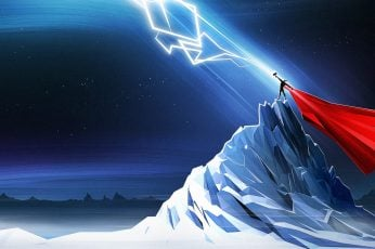 Marvel Thor wallpaper, Mjolnir, lightning, simple, Marvel Comics