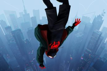 Into the Spider-Verse wallpaper, Spider-Man, Miles Morales, Marvel Comics