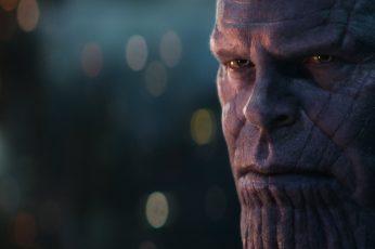 Avengers Infinity War wallpaper, scars, portrait, Thanos, The Avengers