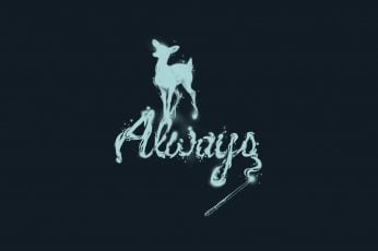 Always text wallpaper, minimalism, deer, simple background, Harry Potter