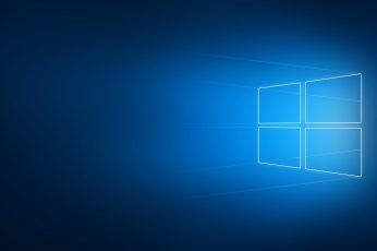 Windows logo wallpaper, Windows 10, minimalism, blurred, geometry, operating system