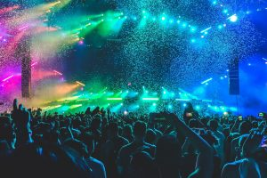 Life wallpaper, concert, music, party, lights, people, colors, neon lights