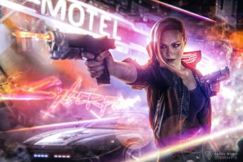 Cyberpunk wallpaper, Cyberpunk 2077, video games, fan art, women, cyborg