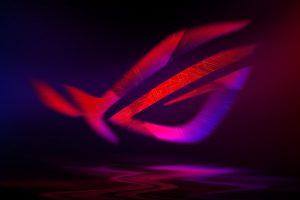 ASUS ROG Neon wallpaper, 4K